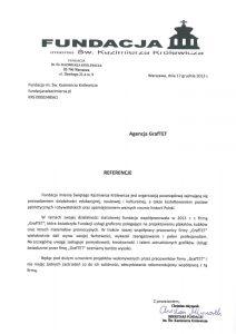 Fundacja imienia Św. Kazimierza Królewicza