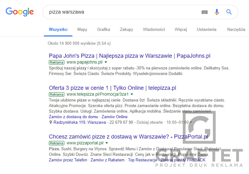 google ads warszawa