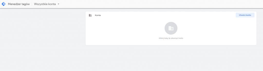 zakładanie konta google tag manager