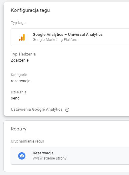 konfiguracja tagu sledzenia w google tag manager